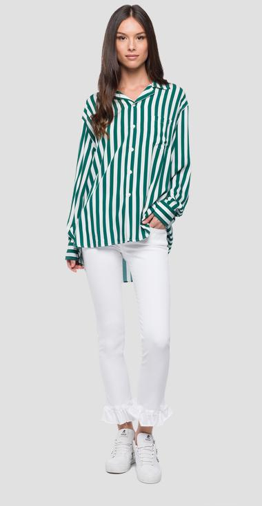 Shirt with macro striped print - Replay W2218_000_71686_020_1