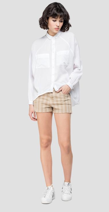 Shirt with striped pattern - Replay W2220_000_83178G_001_1