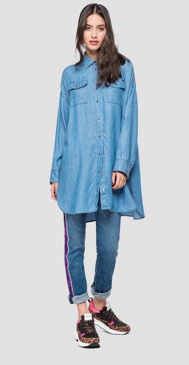 Oversized denim shirt - Replay W2263B_000_54C-05_010_1