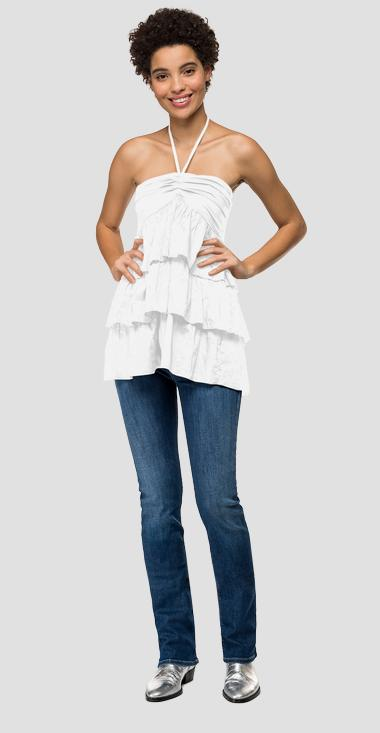 Cami top with lace at the collar - Replay W2320_000_83040_001_1