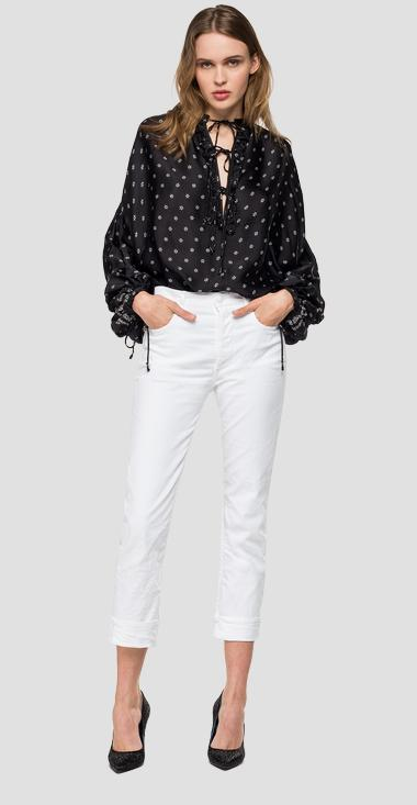 Blouse with all-over floral print - Replay W2326_000_72030_010_1