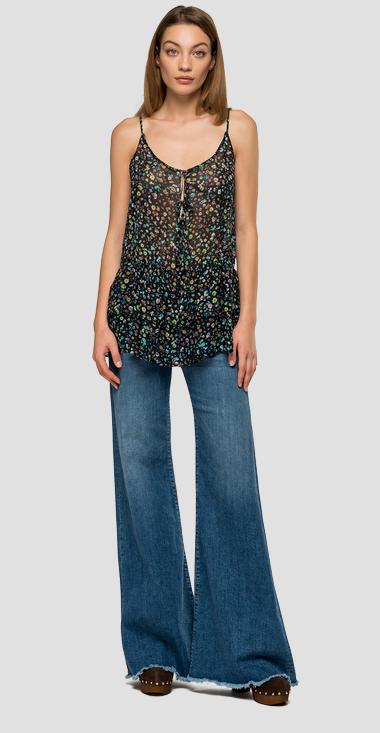 Cami top with micro flowers print - Replay W2333_000_72108_010_1