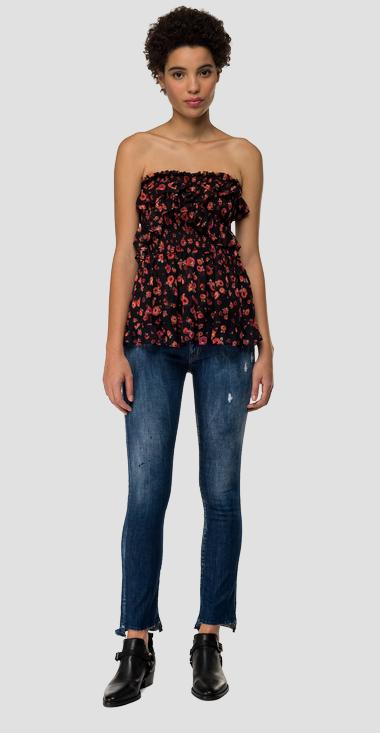 Georgette cami top with floral print - Replay W2334_000_72084_010_1