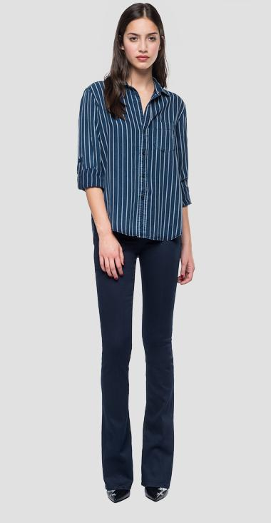 Striped denim shirt - Replay W2831A_000_52146_009_1