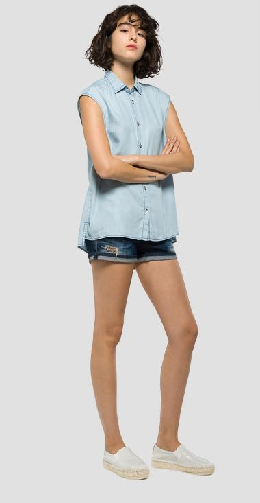 Sleeveless denim shirt - Replay W2911_000_24C-97B_011_1