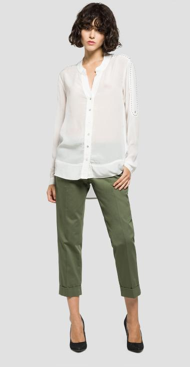 Studded georgette shirt - Replay W2926_000_82798_011_1