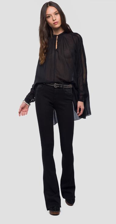 Blouse with openwork - Replay W2955A_000_83040_098_1
