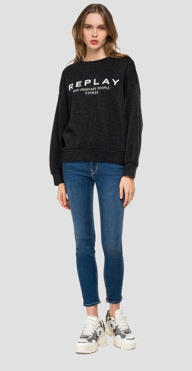 REPLAY sweatshirt with lurex - Replay W3114A_000_22672_040_1