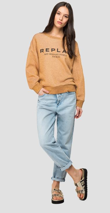 REPLAY sweatshirt with lurex - Replay W3114A_000_22672_080_1
