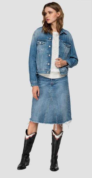 Denimjacke mit REPLAY-Glitterschriftzug - Replay W311O_000_108-600_011_1