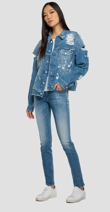 ROSE LABEL denim jacket with tears - Replay W311_000_108-89R_009_1