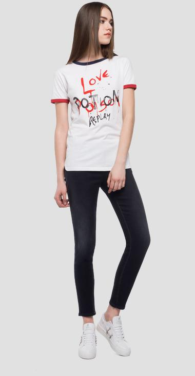 T-shirt contrasting coloured edges - Replay W3122_000_22038G_001_1