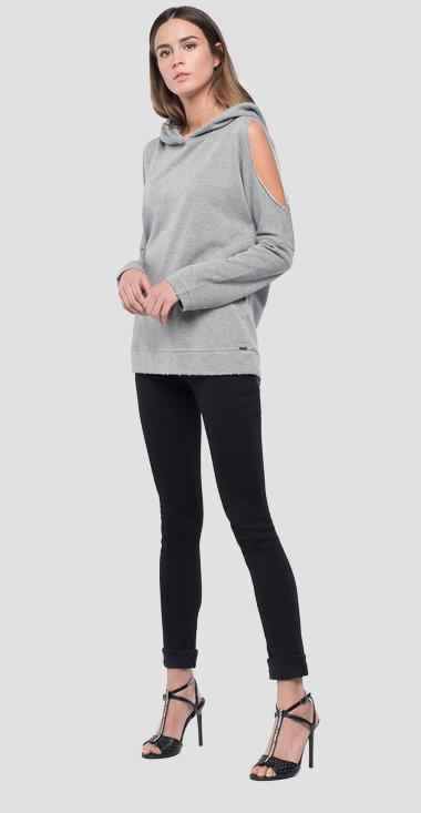 Hoodie with slits - Replay W3131_000_22674_M18_1