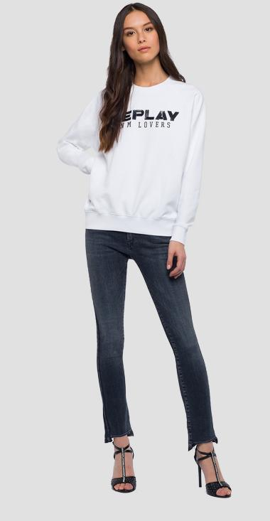 Sweatshirt with sequins writing - Replay W3152_000_22390P_001_1