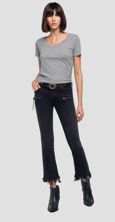 Pocket and v-neck t-shirt - Replay W3156_000_22536P_M02_1