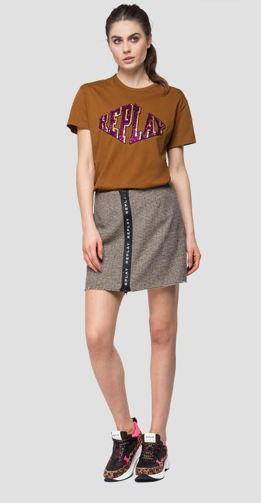 T-shirt col rond sequins - Replay W3191E_000_22038P_721_1