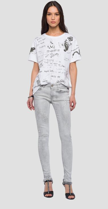 Contrasting-coloured printed t-shirt - Replay W3201_000_22676P_001_1