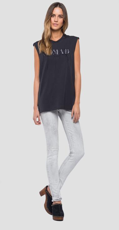 Sleeveless NOMAD t-shirt - Replay W3208A_000_22038_099_1