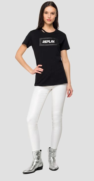 REPLAY t-shirt with glitter frame - Replay W3217D_000_22832P_098_1