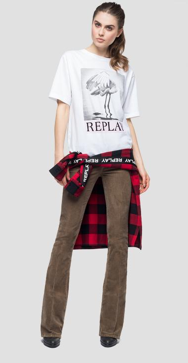 Oversized t-shirt with photographic print - Replay W3233_000_22662_001_1