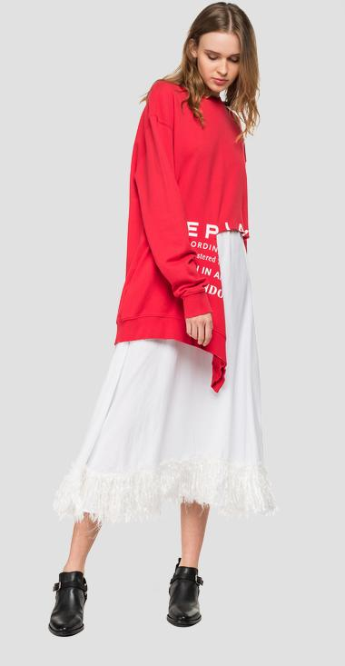 Maxi sweatshirt with deep tear - Replay W3264_000_22738N_555_1