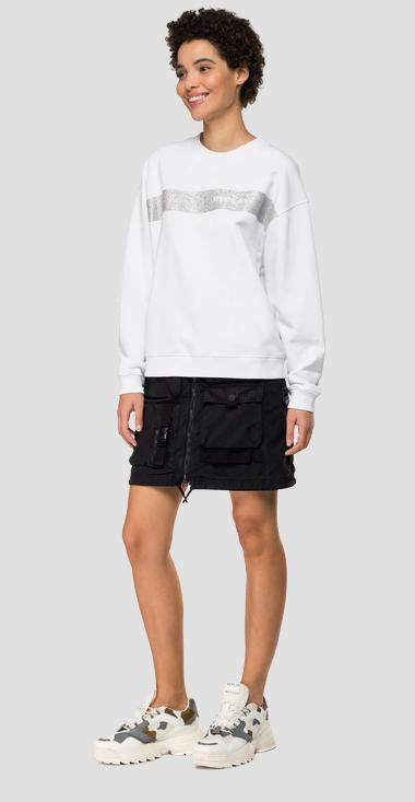 Sweatshirt mit REPLAY-Glitteraufdruck - Replay W3269A_000_22890P_001_1