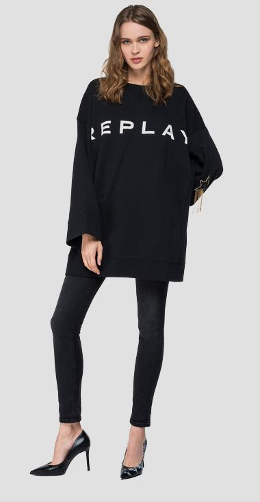 Maxi sweatshirt with writing - Replay W3272_000_21842_098_1