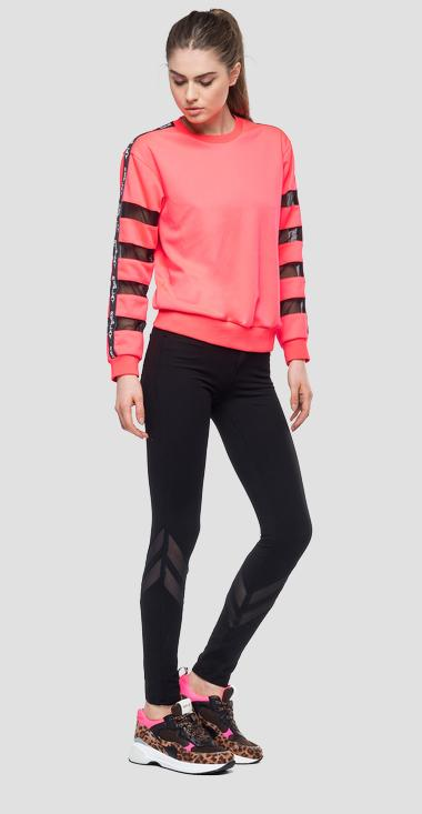 Sweatshirt with transparent stripes - Replay W3274_000_22610_153_1