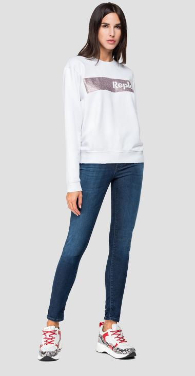 Sweatshirt with glitter detail - Replay W3286A_000_22738M_001_1
