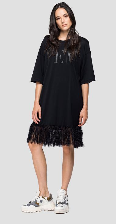 Oversized sweater with fringes - Replay W3306A_000_22748_099_1