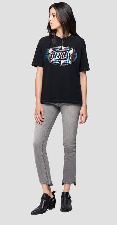 T-shirt with holographic print - Replay W3307_000_22660_098_1