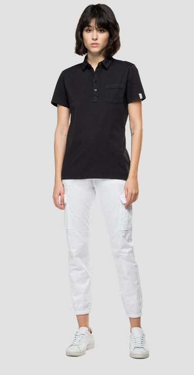 Essential jersey polo shirt with pocket - Replay W3332_000_23100G_998_1