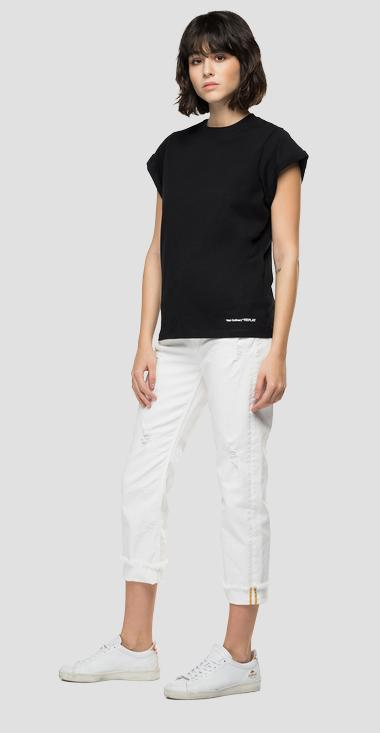 Slim fit t-shirt in organic cotton - Replay W3502B_000_23120P_098_1