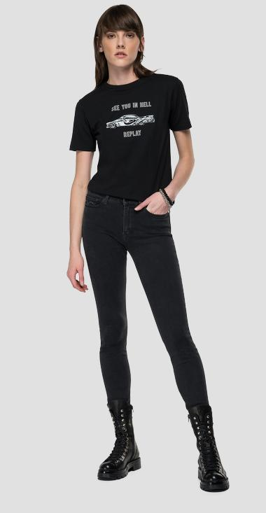 Slim fit SEE YOU IN HELL REPLAY t-shirt - Replay W3510H_000_20994_098_1