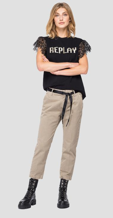 T-shirt with cap sleeves - Replay W3511_000_22980P_098_1