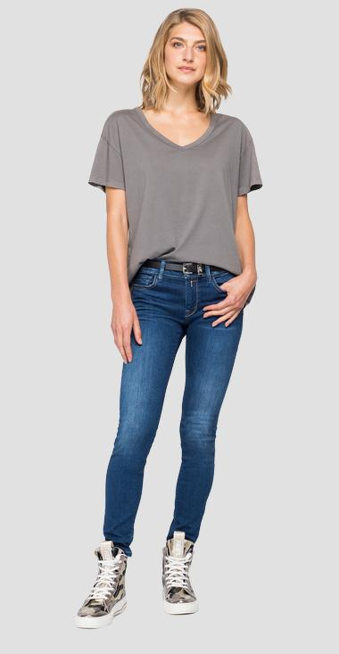 V-neck t-shirt with print - Replay W3513_000_22536G_210_1