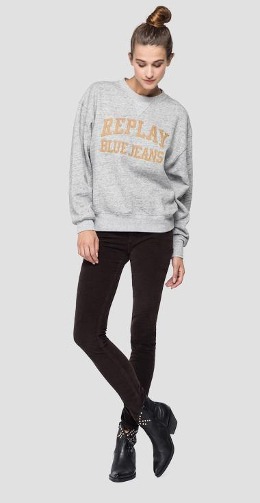 Crewneck mélange sweatshirt - Replay W3550A_000_22664_M15_1