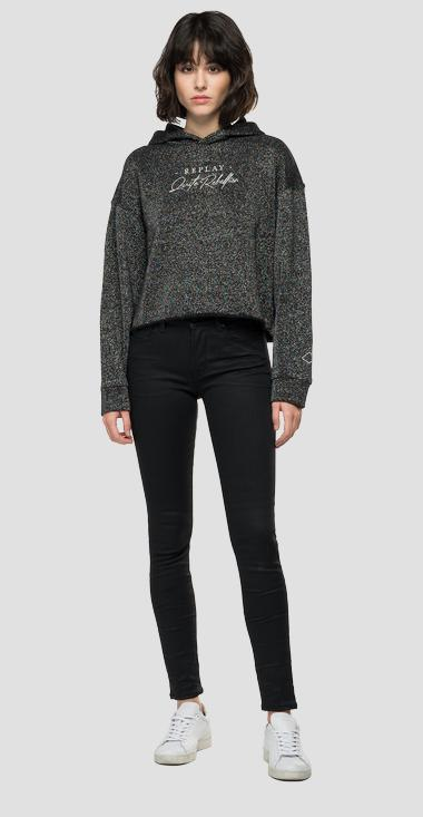 REPLAY QUIET REBELLION sweatshirt with lurex - Replay W3552A_000_22672_150_1