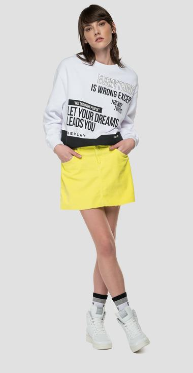 REPLAY LET YOUR DREAM LEADS YOU oversized sweatshirt - Replay W3581C_000_22890CS_001_1