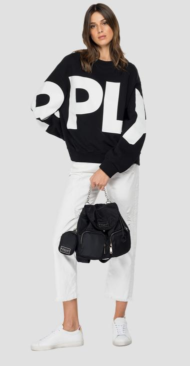 Oversized sweatshirt with REPLAY print - Replay W3581_000_22890P_098_1