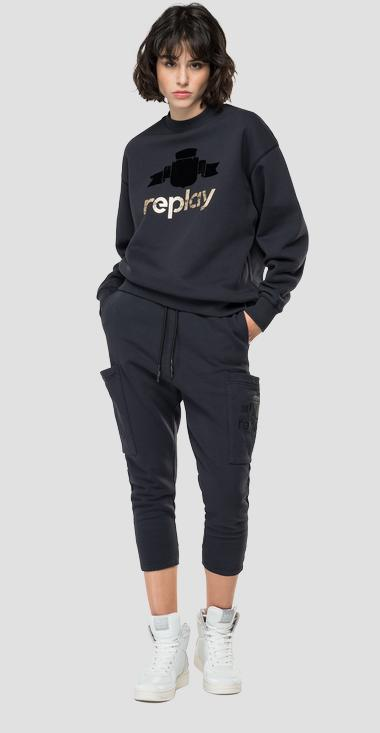 Oversized sweatshirt with REPLAY print - Replay W3586A_000_23190P_099_1