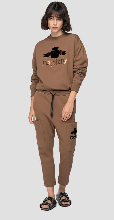 Oversized sweatshirt with REPLAY print - Replay W3586A_000_23190P_728_1