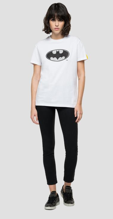T-shirt with REPLAY TRIBUTE LIMITED EDITION BATMAN E JOKER foil print with glitter - Replay W3601_000_22880_001_1