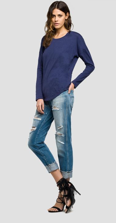 Comfort-fit cotton T-shirt - Replay W3788B_000_22362_575_1