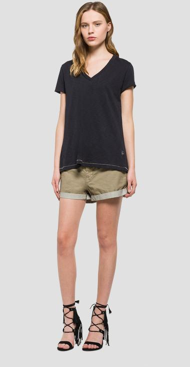 T-shirt with back slit - Replay W3831_000_22336_099_1