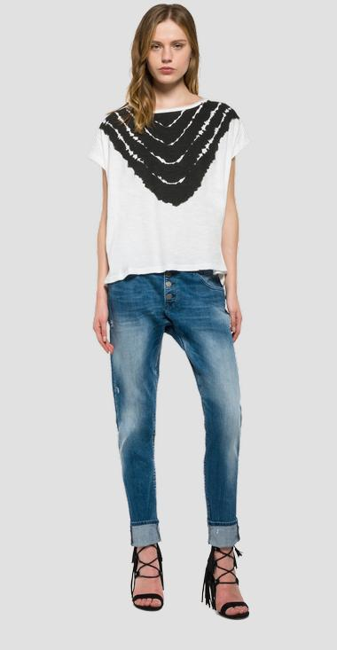 T-shirt with neck print - Replay W3834A_000_20760P_001_1