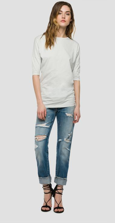Longline solid jersey T-shirt - Replay W3843_000_20994T_205_1