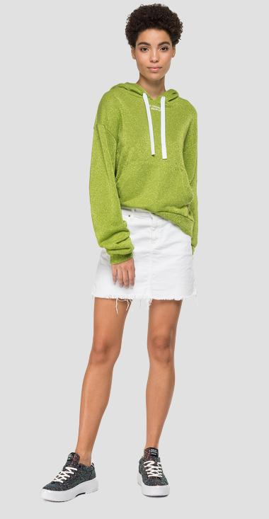 Hoodie with lurex - Replay W3878_000_22672_050_1