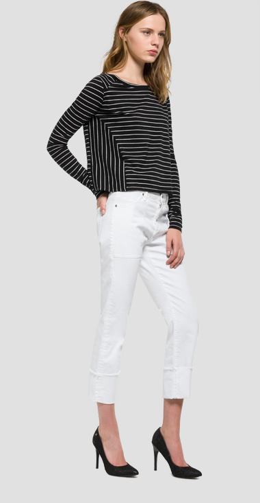 Striped boat-neck T-shirt - Replay W3885_000_51882_010_1