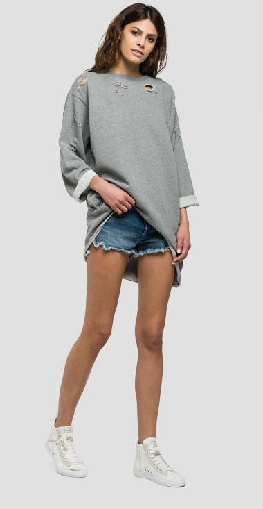 Long ripped sweatshirt - Replay W3925_000_22390B_M02_1